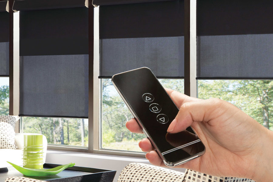 Motorized blinds for convenience and hard to reach places controlled with your smart phone or remote device