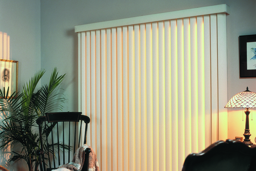 Inexpensive PVC vertical blinds are budget blinds