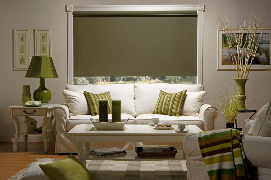 Roller shades in a wide variety of materials and finishes to suit your decor