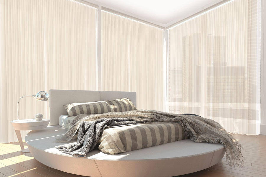 Semi-transparent windows sheers and sheer window curtains for elegance and privacy