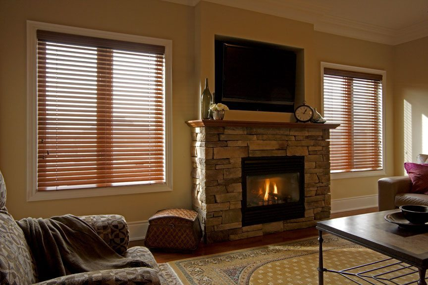 Natural wood, painted wood horizontal blinds venetian blinds